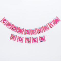 Гирлянда на ленте «С Рождением дочки», Минни Маус, 215 см, 1 шт.