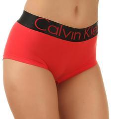 Женские боксеры красные с черной резинкой Calvin Klein Women Boxers