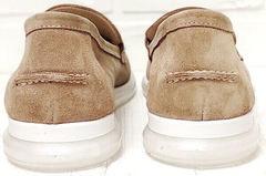 Бежевые лоферы женские туфли на невысоком каблуке Anna Lucci 2706-040 S Beige.