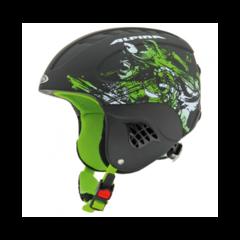 Шлем горнолыжный Alpina CARAT black-green - 2