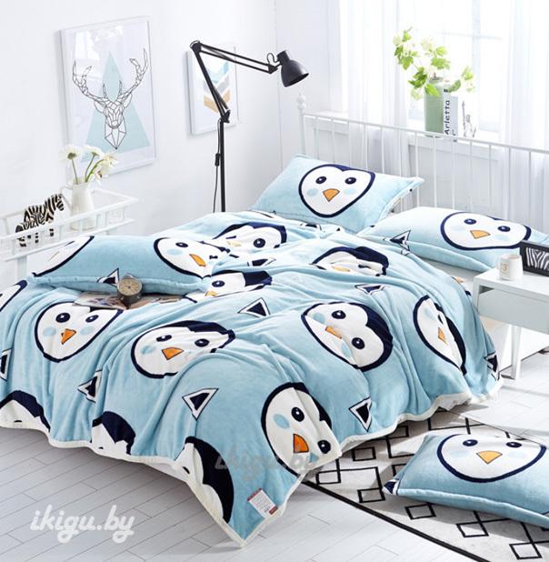 """Мягкие игрушки и подушки Плед """"Забавные пингвины"""" pled_pinguin.jpg"""