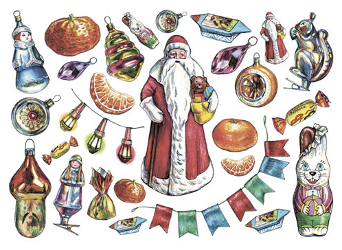 Рисовая бумага для декупажа Дед Мороз, А3