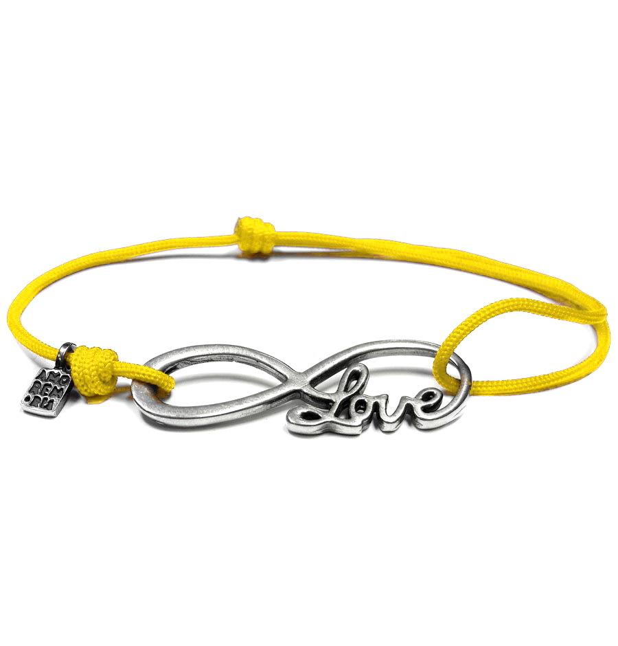 Infinity Love Bracelet, Sterling silver
