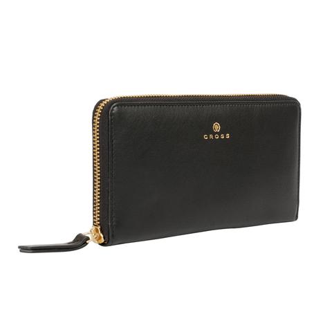 Женский кожаный большой кошелёк 19,5х10х2см CROSS Monaco Black AC898287_1-1