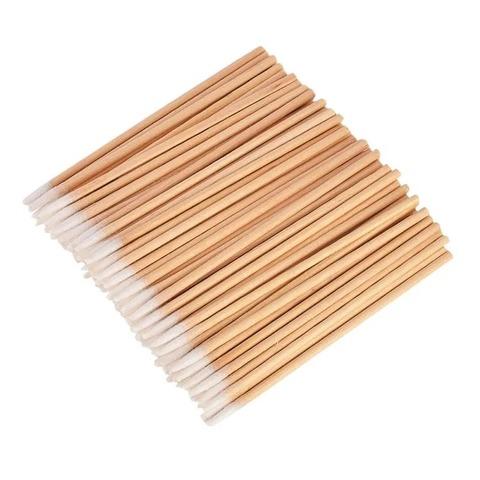 Деревянная палочка с ватным наконечником, 300 шт