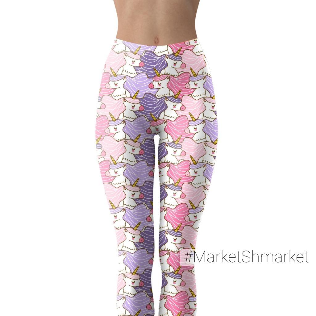 Фиолетовые и розовые единороги