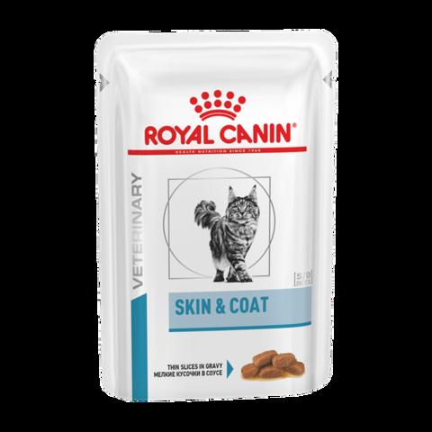 Royal Canin Skin & Coat Консервы для кастрированных котов и кошек с чувствительной кожей 1-7 лет, пауч