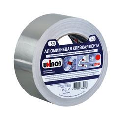 Клейкая лента алюминиевая Unibob серая 50 мм x 40 м толщина 70 мкм