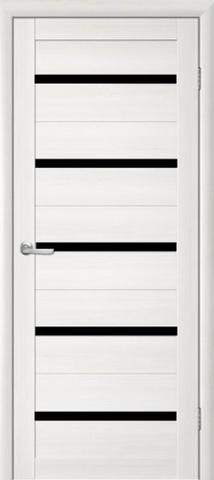 Дверь TrendDoors TDT-2, стекло чёрный акрилат, цвет лиственница белая, остекленная