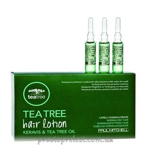 Paul Mitchell Tea Tree Hair Lotion - Лосьйон (в ампулах) від випадіння волосся з екстрактом чайного дерева