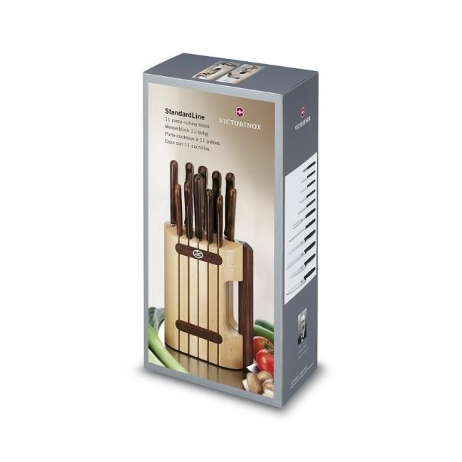 Кухонный набор Victorinox из 11 предметов в подставке из дерева (5.1150.11) - Wenger-Victorinox.Ru