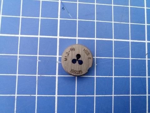 Плашка М1,2x0,25 DIN EN22568 6g HSSE52(HSS-Co5) 16х5мм S3 Bucovice(СzTool) 290012