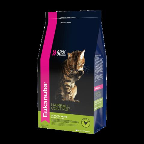 Eukanuba Adult Нairball Сухой корм для взрослых кошек для выведения комочков шерсти