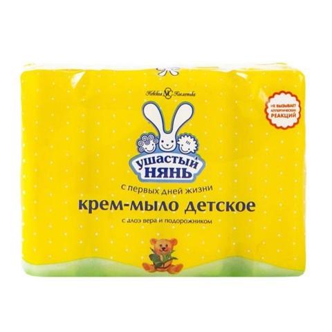 Крем-мыло УШАСТЫЙ НЯНЬ Экстракт алоэ 4*100 гр NC РОССИЯ