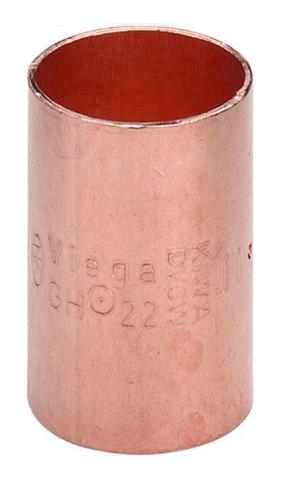 Viega муфта медная 22 мм двухраструбная под пайку (100353)