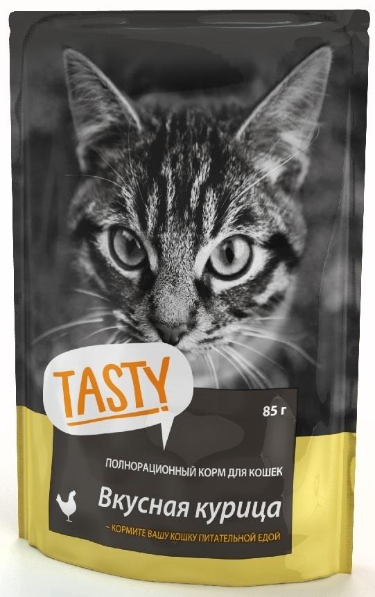 TASTY 85г пауч для кошек с курицей в желе 4+1