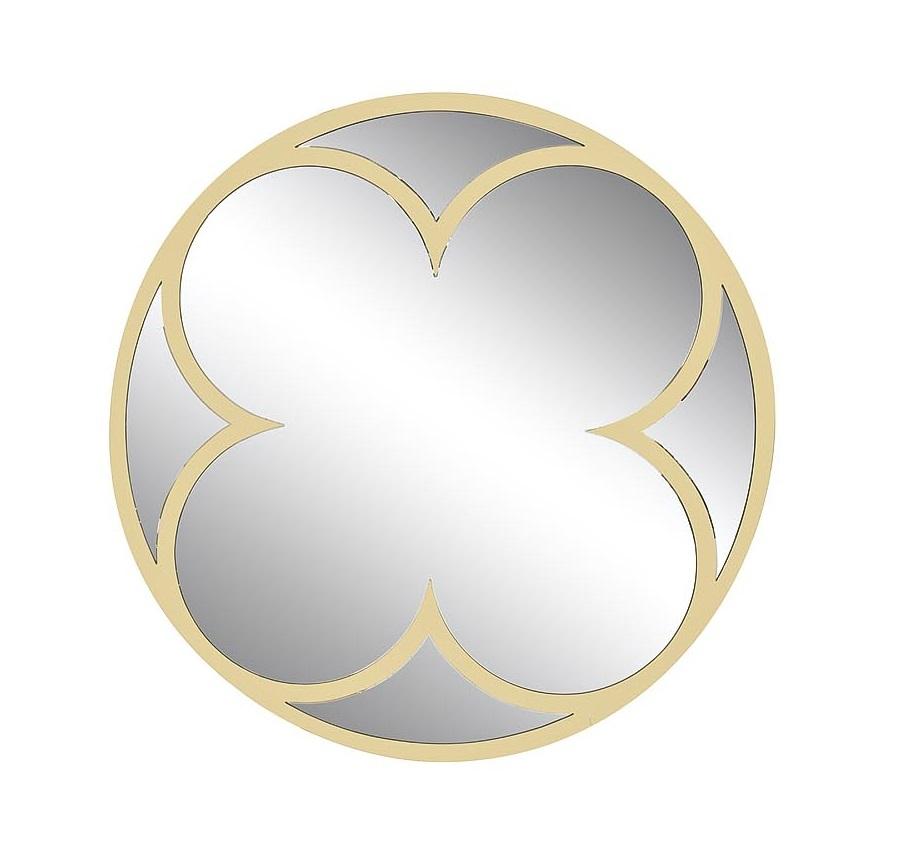 KFE1160 Зеркало круглое в металл. раме цвет золото d92см