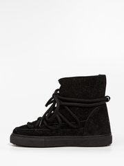 Высокие комбинированные кеды INUIKII 70202-111 Sneaker Glitter black на меху