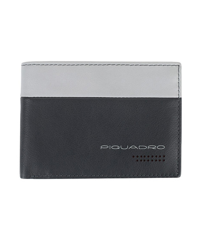Кошелек Piquadro Urban, серый/черный, 13x9x2 см