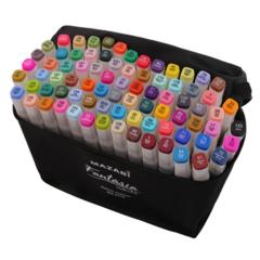 Mazari Fantasia White набор маркеров для скетчинга 80 шт двусторонние спиртовые пуля/долото 2.5-6.2 мм