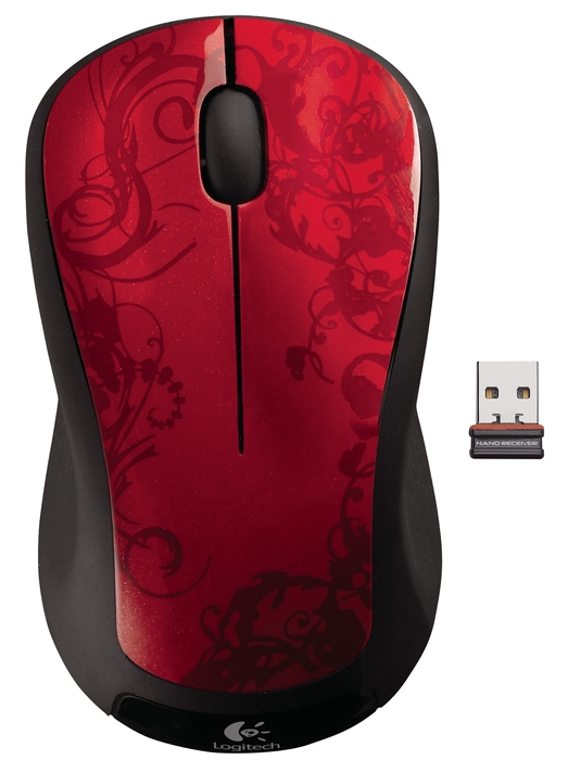 LOGITECH M310 USB Red Tendrils