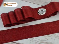Лента текстильная с люрексом бордовая 38 мм
