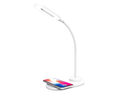 Светодиодная настольная лампа с беспроводной зарядкой DE588 WH белый LED 3000-6400K 3W