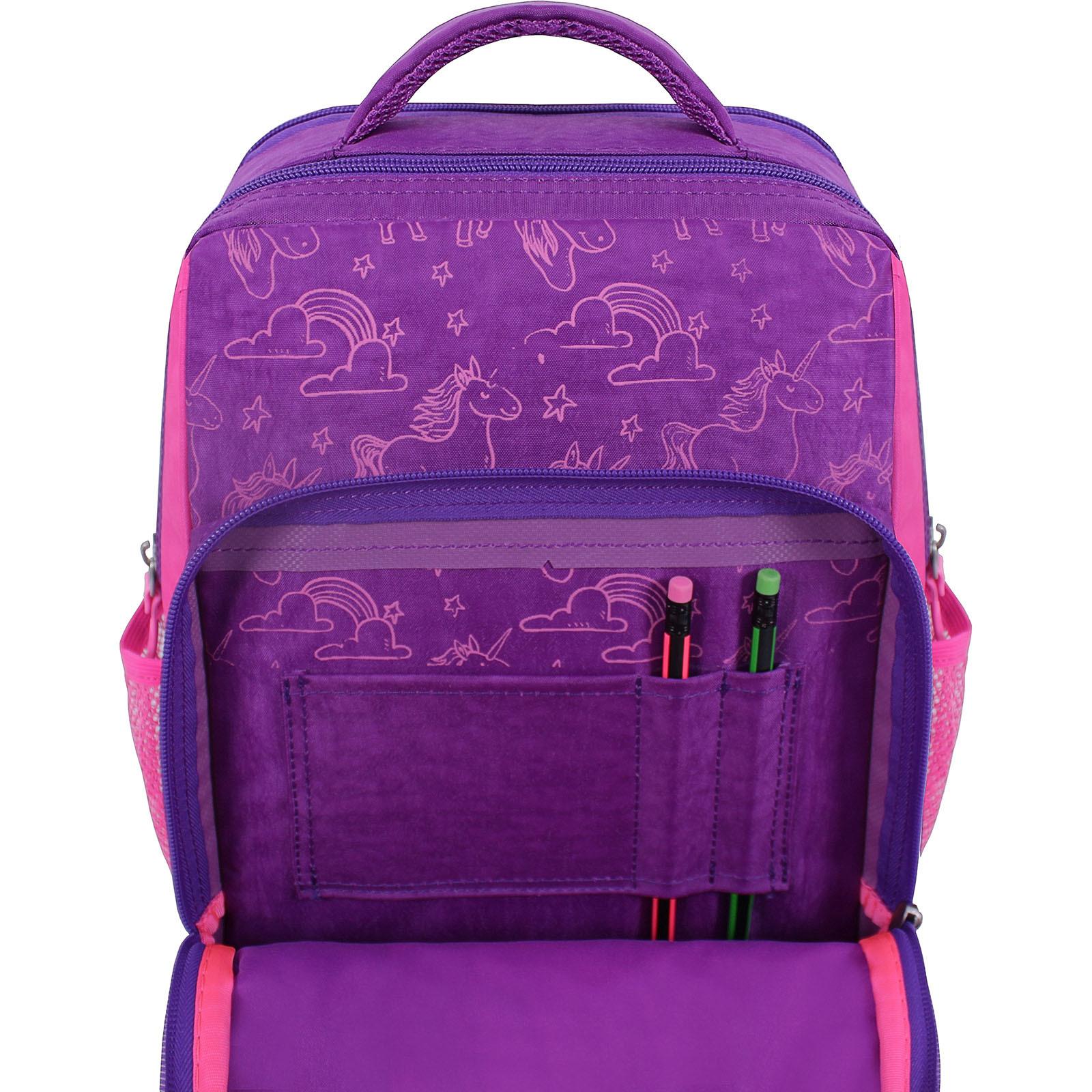 Рюкзак школьный Bagland Школьник 8 л. фиолетовый 596 (0012870) фото 4