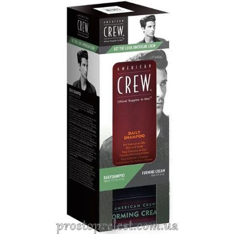 American Crew Get The Look Daily Shampoo & Forming Cream Duo - Набір