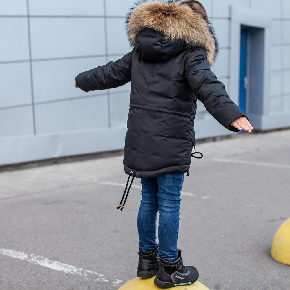 Зимова дитяча парка з опушкою з натурального фінського єнота