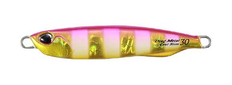 Пилькер DUO DRAG METAL CAST SLIM  20g, 30g PINK GOLD ZEBRA GLOW