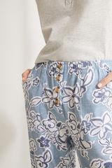 Довгі штани-палаццо з бавовни з квітковим принтом