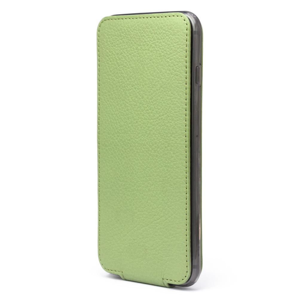Чехол для iPhone 6/6S Plus из натуральной кожи теленка, цвета светлой оливы