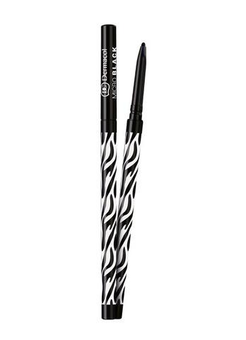 Dermacol Micro Black Водостойкий ультратонкий механический карандаш для глаз (черный), 3мл