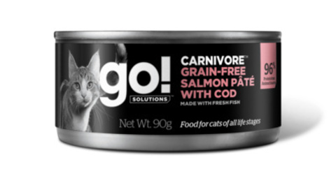 Go! консервы беззерновые с лососем и треской для кошек, GO! Carnivore Grain Free Salmon Pate with Cod