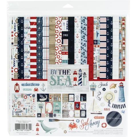 Набор двусторонней бумаги 30х30см со стикерами  Carta Bella Collection Kit-  By The Sea