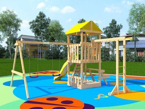 Детская площадка IgraGrad Крафтик со столиком и рукоходом