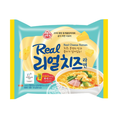 Лапша б/п OTTOGI Real Cheese Ramen со вкусом сыра 135г Корея