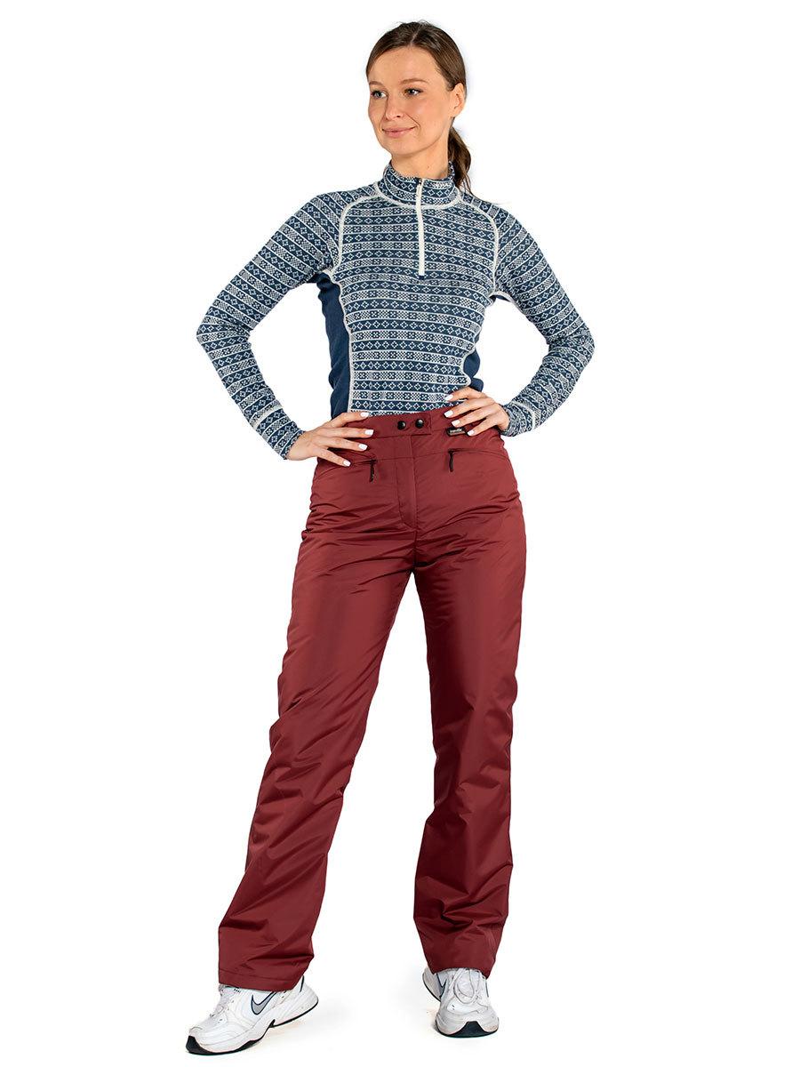 Maritta брюки Lenita цвет бордо