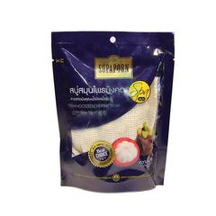 Натуральное СПА-мыло с мангостином и маслом ростков риса в мочалке из люфы SUPAPORN