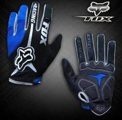 Велосипедные перчатки Fox длинные (синие)