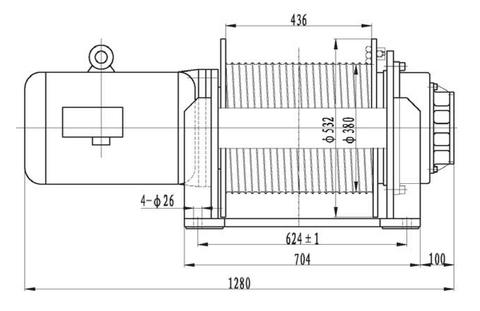 Компактная электрическая лебедка IDJ234-60-96-18