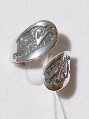 Лента (кольцо из серебра)