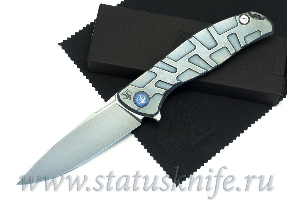 Нож Широгоров Flipper 95 R  T-узор М390 As blue mrbs
