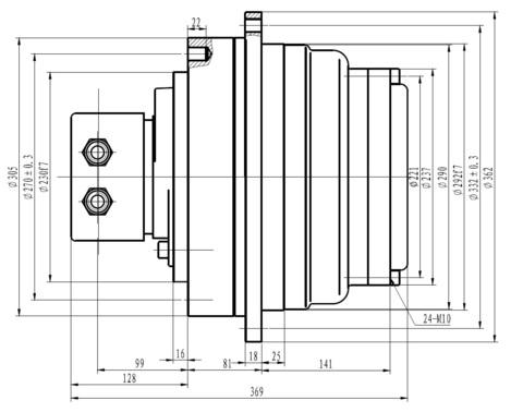 Редуктор IKY2.52.5B-3600D2402