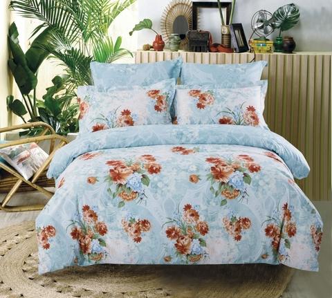 Сатиновое постельное бельё  1,5 спальное Сайлид  В-166