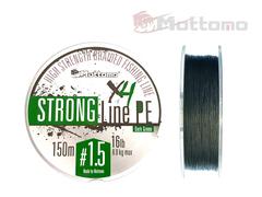 Плетеный шнур Mottomo Strong Line PE Dark Green #1.5/8kg 150m