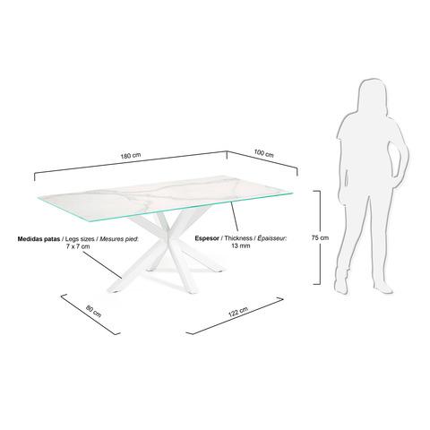 Керамически стол Arya белый