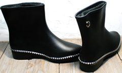 Модельные резиновые сапоги женские Hello Rain Story 1019 Black