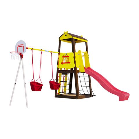 Детский спортивный комплекс для дачи ROMANA Избушка (Качели малыш)